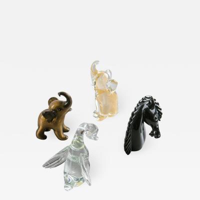 Archimede Seguso Murano Glass Animals by Archimede Seguso