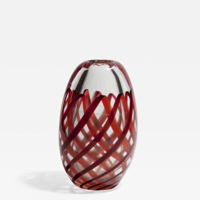 Archimede Seguso Nastro Richiamato Vase