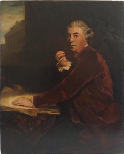 Architect William Chambers Portrait after Joshua Reynolds