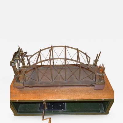 Architectural Patent Design Model of a Swing Bridge