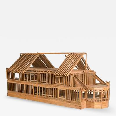 Architectural Wood Model of Timber Framed House