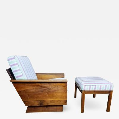 Arden Riddle Arden Riddle Lounge Chair and Ottoman Studio Craft 1979