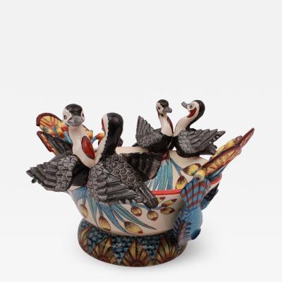 Ardmore Ceramic Art Egyptian Goose Bowl