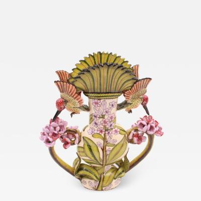 Ardmore Ceramic Art Humming Bird Vase
