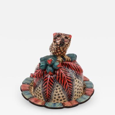 Ardmore Ceramic Art Owl Butter Dish