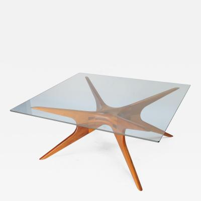 Argentinian 1970s Coffee Table with Spider Leg in Petiribi Wood