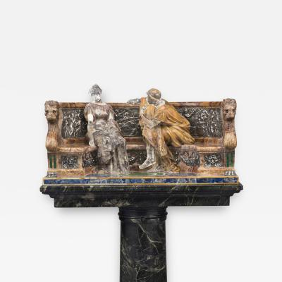 Aristide Petrilli A Declaration An Unusual Specimen Marble Figural Group