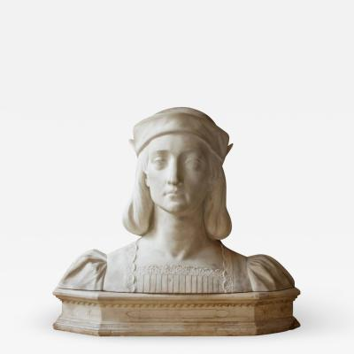 Aristide Petrilli Antique Italian Marble Bust by Aristide Petrilli
