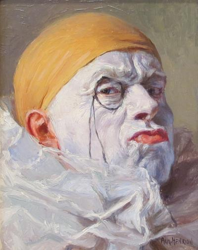 Armand Henrion Clown with Orange Cap and Monocle
