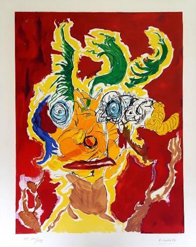 Armand Nakache Armand Nakache Original Handsigned Lithograph Ecole de Paris Circa 1960