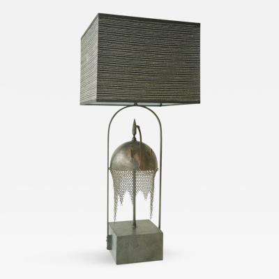 Armature Table Lamp Ornamented with a Persian Kulah Khud