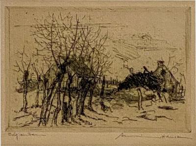 Armin Carl Hansen Armin Hansen Engraving American Circa Early 19th Century