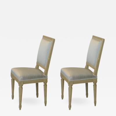 Armond Albert Rateau Pair of Louis XVI Style Side Chairs by Armand Albert Rateau