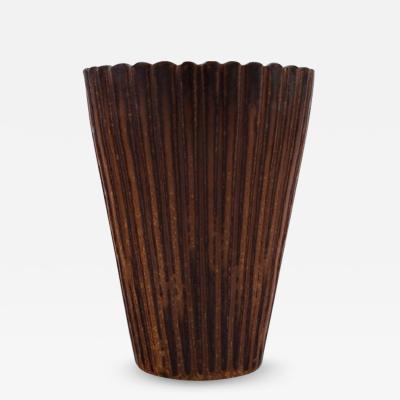 Arne Bang Arne Bang Ceramic vase in fluted style Model number 116