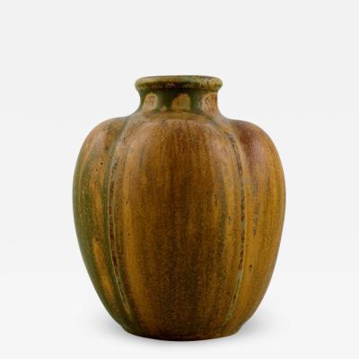 Arne Bang Arne Bang Vase in glazed ceramics Organic design 1930s