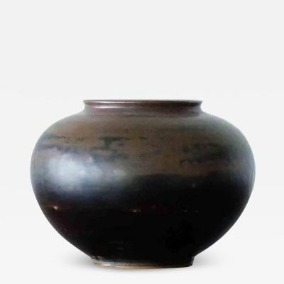 Arne Bang Arne Bang for Royal Copenhagen Mid Century Scandinavian Stoneware Vase 1940s