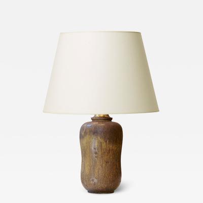Arne Bang Naturalistic gourd table lamp by Arne Bang