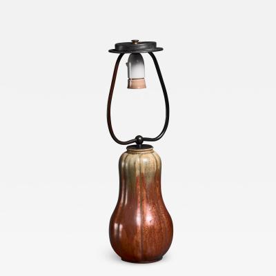 Arne Bang Signed Arne Bang ceramic table lamp Denmark 1949