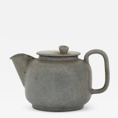 Arne Bang Tea pot in grey blue glaze