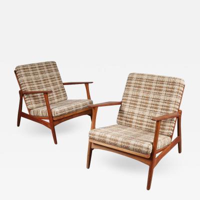 Arne Hovmand Olsen Arne Hovmand Olsen Lounge Chairs for Mogens Kold Denmark 1950