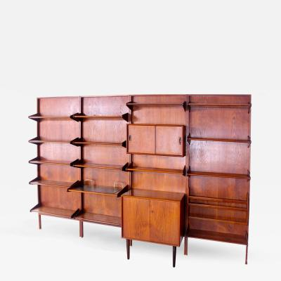 Arne Hovmand Olsen Danish Modern Teak Wall Mounted Unit Designed by Arne Homand Olsen