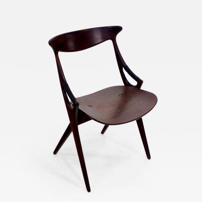 Arne Hovmand Olsen Early Danish Modern Teak Armchair Designed by Arne Hovmand Olsen