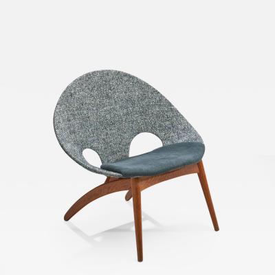 Arne Hovmand Olsen No 55 Lounge Chair by Arne Hovmand Olsen for P Jeppesen M belfabrik DK 1955