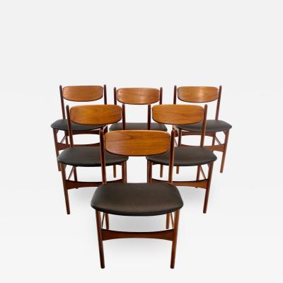 Arne Hovmand Olsen Rare Swivel Back Dining Chairs Designed by Arne Hovmand Olsen