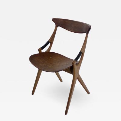 Arne Hovmand Olsen Scandinavian Modern Scissor Chair Designed by Arne Hovmand Olsen