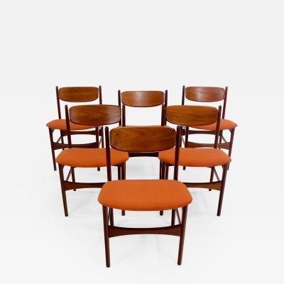 Arne Hovmand Olsen Set of Six Danish Modern Dining Chairs Designed by Arne Hovmand Olsen