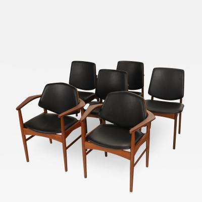 Arne Hovmand Olsen Set of Six Scandinavian Modern Teak Dining Chairs Designed by Arne Hovmand Olsen