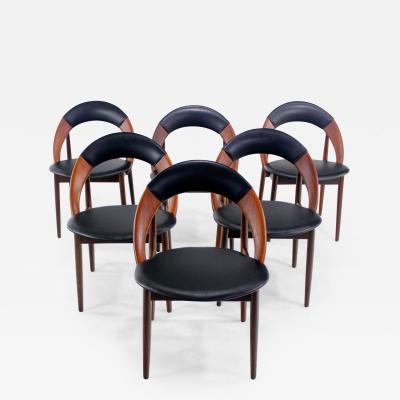 Arne Hovmand Olsen Six Danish Modern Teak Dining Chairs Designed by Arne Hovmand Olsen