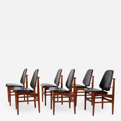 Arne Hovmand Olsen Teak six dining chairs Arne Hovman Olsen