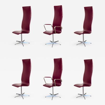 Arne Jacobsen 3272 Oxford Chairs by Arne Jacobsen for Fritz Hansen