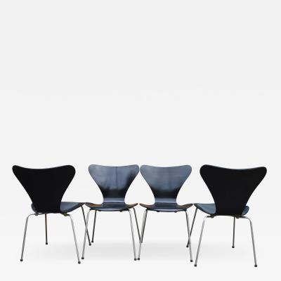 Arne Jacobsen 4 Series 7 Ant Chairs by Arne Jacobsen for Fritz Hansen