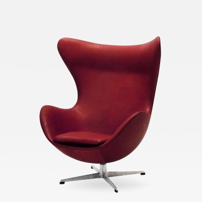 Arne Jacobsen AJ 3316 Egg Chair Indian Red Leather