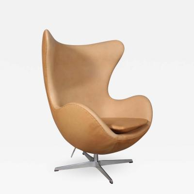 Arne Jacobsen Arne Jacobsen Armchair with rocking function The Egg Vacona leather