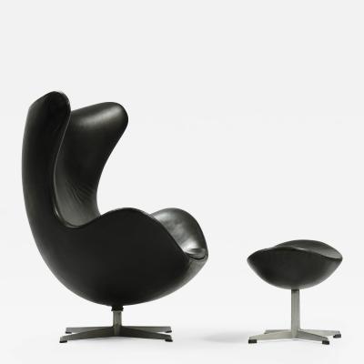 Arne Jacobsen Arne Jacobsen Egg Chair with Ottoman for Fritz Hansen