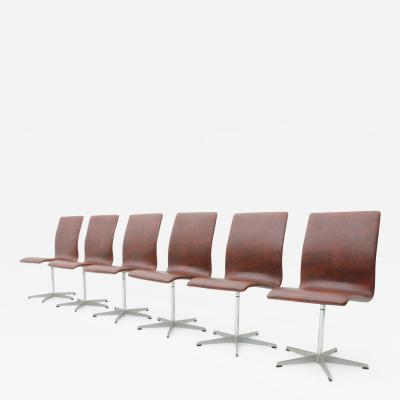 Arne Jacobsen Arne Jacobsen Oxford Chairs for Fritz Hansen
