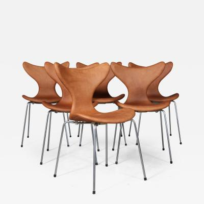 Arne Jacobsen Arne Jacobsen Set of six chairs Liljen 6