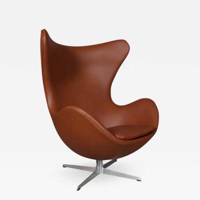 Arne Jacobsen Arne Jacobsen The egg Armchair cognac colored aniline leather