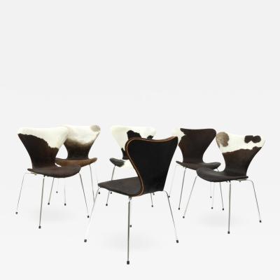 Arne Jacobsen Arne Jacobsen for Fritz Hansen Set Of 6 Chairs