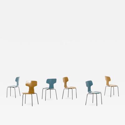 Arne Jacobsen Children T Chairs Produced by Fritz Hansen