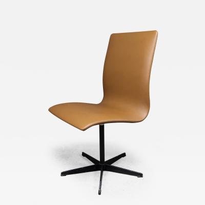 Arne Jacobsen Early Arne Jacobsen Oxford Chair in Cognac Leather Fritz Hansen c1970