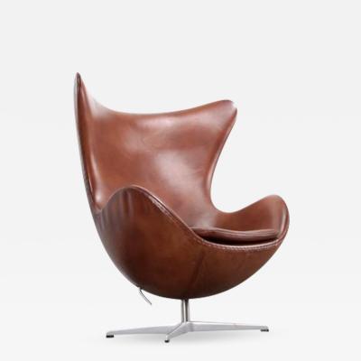 Arne Jacobsen Egg Chair Brown by Arne Jacobsen for Fritz Hansen
