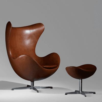 Excellent Arne Jacobsen Egg Chair And Ottoman Arne Jacobsen For Fritz  Hansen Denmark With Egg Chair