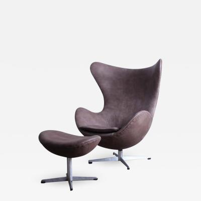 Arne Jacobsen Egg Chair and Ottoman by Arne Jacobsen for Fritz Hansen