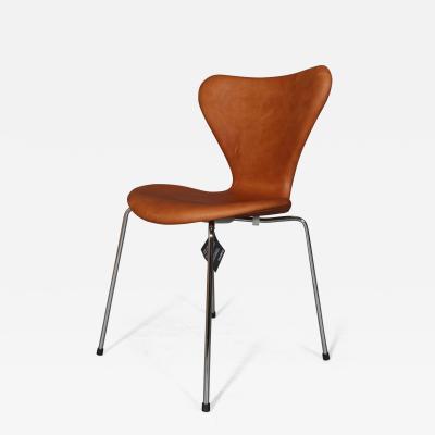 Arne Jacobsen New Arne Jacobsens 7 erstole model 3107 Vintage aniline leather