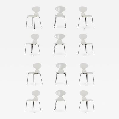 Arne Jacobsen Set of 12 Vintage Ant chairs by Arne Jacobsen