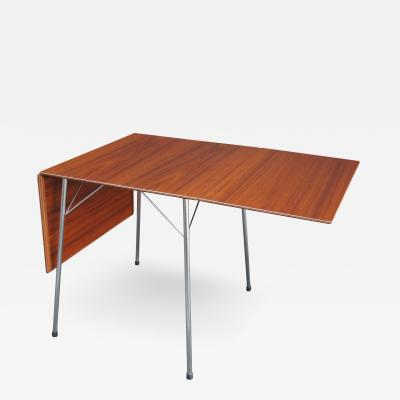 Arne Jacobsen Teak Drop Leaf Dining Table Model 3601 by Arne Jacobsen for Fritz Hansen